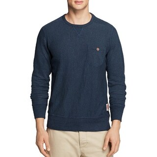 Superdry Copper Label Terry Cloth Crew Sweatshirt Pertroleum Blue Medium M