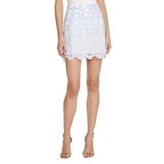 Aqua Womens Mini Skirt Lace Mini