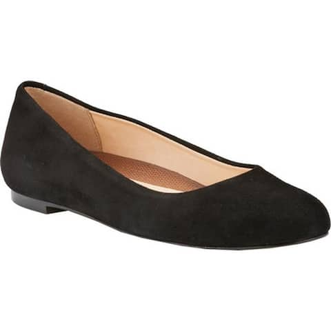 Walking Cradles Women's Bronwyn Ballet Flat Black Suede