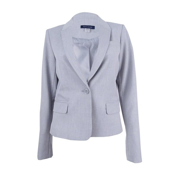 ba3c0a5f Shop Tommy Hilfiger Women's One-Button Blazer (10, Light Grey) - Light grey  - 10 - Free Shipping On Orders Over $45 - Overstock - 22989531