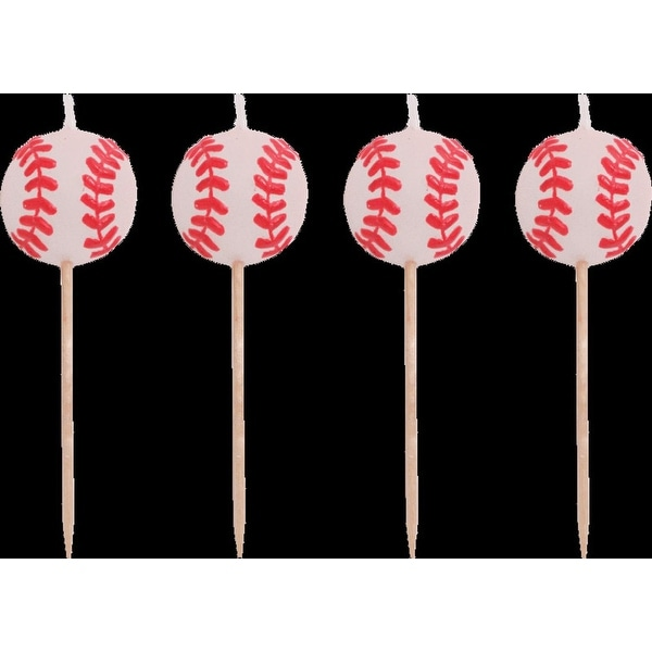 4b4bbb80 Shop Club Pack of 12 Team Sports Baseball Themed Molded Candle Desert Topper  Pick Set 3