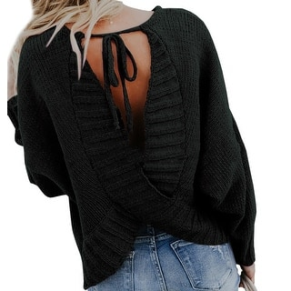 02fb3b6b32 Buy Black Long Sleeve Sweaters Online at Overstock