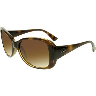 Vogue Women's Gradient VO2843S-W65613-56 Brown Butterfly Sunglasses