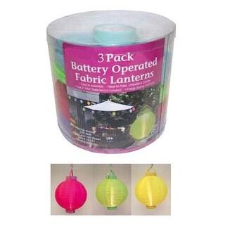 Celebrations 60S06116 Battery Operated LED Fabric Lantern Set