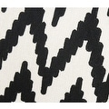 "G Home Collection Luxury Black And White Big Chevron Pattern Throw Pillow 20""X20"" - Thumbnail 3"