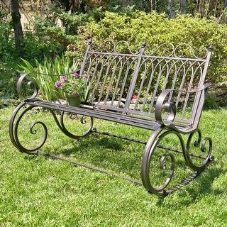 "Link to Iron Rocking Garden Bench ""Tatiana"" in Antique Bronze Similar Items in Patio Furniture"