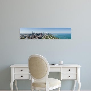 Easy Art Prints Panoramic Images's 'City skyline from Grant Park, Chicago, Lake Michigan, Cook Illinois' Canvas Art