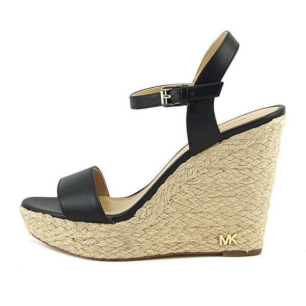 Michael Kors Womens Jill Leather Open Toe Casual Espadrille Sandals