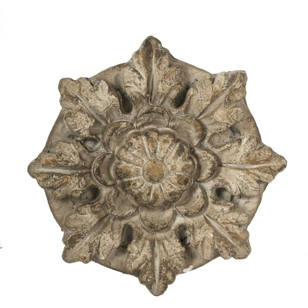 "15.75"" Natural Gray Classic Vintage Style Florette Wall Decor - N/A"