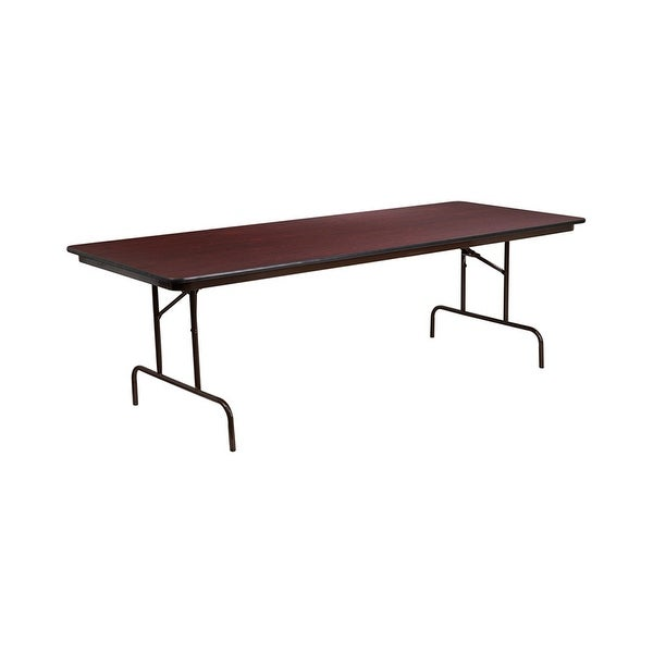 Shop Offex X Rectangular High Pressure Mahogany Laminate - 36 x 96 conference table