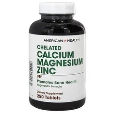 American Health Calcium Magnesium Zinc Tablets 250 Tablets