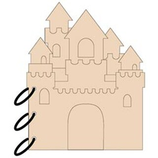"""5 Pages & No Rings - Sandcastle Chipboard Album 7""""X9"""""""