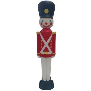 Union Products 76440 Blow Mold Christmas Toy Soldier, Multicolored - Multi-color