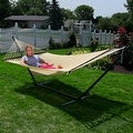 Sunnydaze Large 2-Person Rope Hammock with Spreader Bar & Hammock Stand - Thumbnail 36