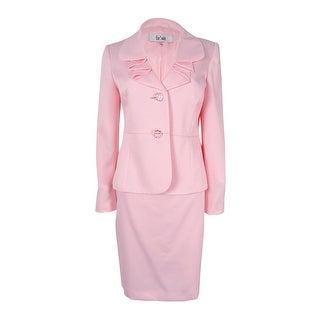 Le Suit Women's Ruffled Sateen Skirt Suit - tutu pink