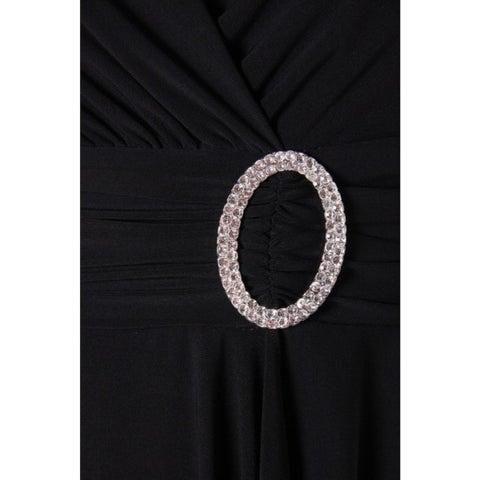 R&M Richards Womens Cocktail Dress Matte Jersey Jeweled Waist
