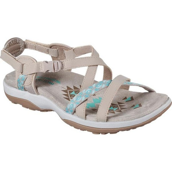 Shop Skechers Women's Reggae Slim Vacay Sandal Taupe On
