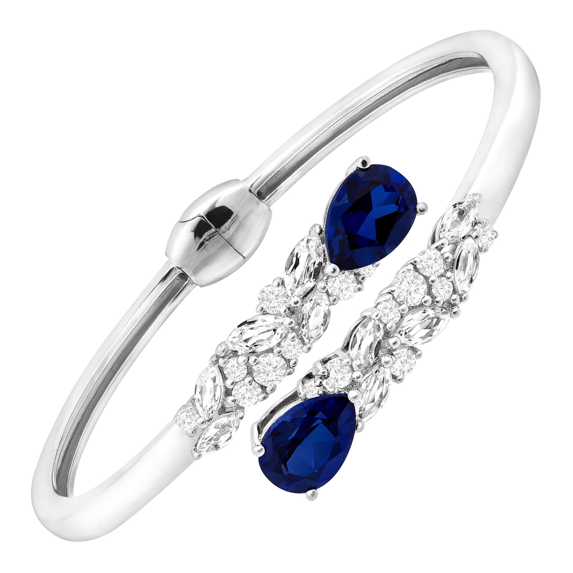 a815aa35ec4 Buy Sapphire Gemstone Bracelets Online at Overstock