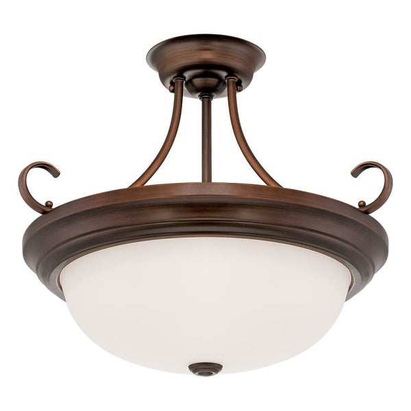 Millennium Lighting 5215 3 Light Semi-Flush Ceiling Fixture