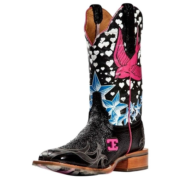 Cinch Western Boot Womens Cowboy Leather Edge Stella Bird Black