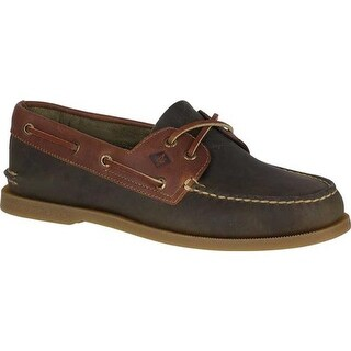 Sperry Top-Sider Men's Authentic Original Boat Shoe Olive/Tan Leather