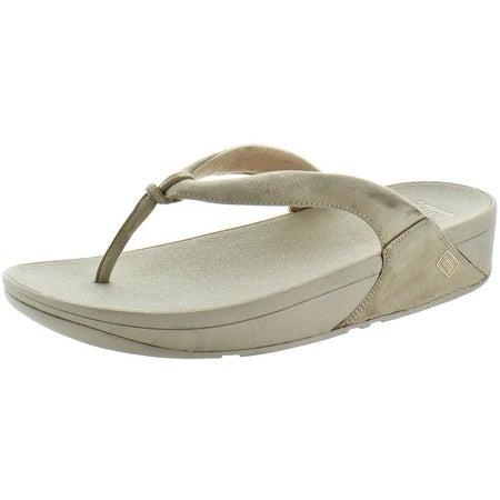 FitFlop Women's Swirl Casual Suede Flip Flop Sandals