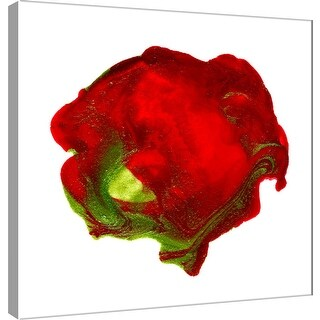 "PTM Images 9-101051  PTM Canvas Collection 12"" x 12"" - ""Polished in Scarlet"" Giclee Abstract Art Print on Canvas"