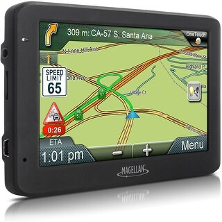 "Magellan RoadMate 5635T-LM 5.0"" Touchscreen Portable GPS System (Certified Refurbished) - black - 3.4 x 5.6 x 0.6"