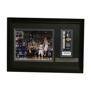 Dirk Nowitzki Dallas Mavericks 30000 Point Framed Ticket and Photo Unsigned 30000 Display Photo