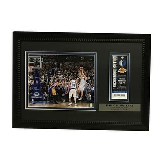 Dirk Nowitzki Dallas Mavericks 30000 Point Framed Ticket and Photo Unsigned 30000 Display