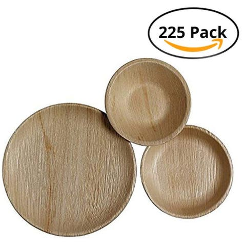 CaterEco Round Palm Leaf Plates Set (225 Pack) - 225 Pack