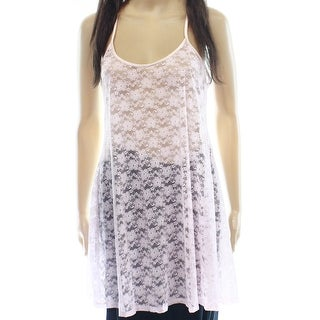 In Bloom NEW Pink Open Stitch Floral Lace Medium M Babydoll Sleepwear