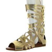 Forever Link Women's Sonia-83 Gladiator Sandals - Gold