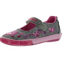 Lelli Kelly Lk8555 Girls Shoes - pewter glitter