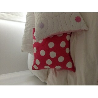 Cottage Home Light Pink Dot Decorative Pillow