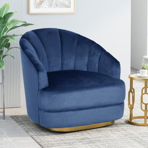"""Condit Modern Glam Channel Stitch Velvet Club Chair by Christopher Knight Home - 31.00"""" L x 32.00"""" W x 31.00"""" H"""