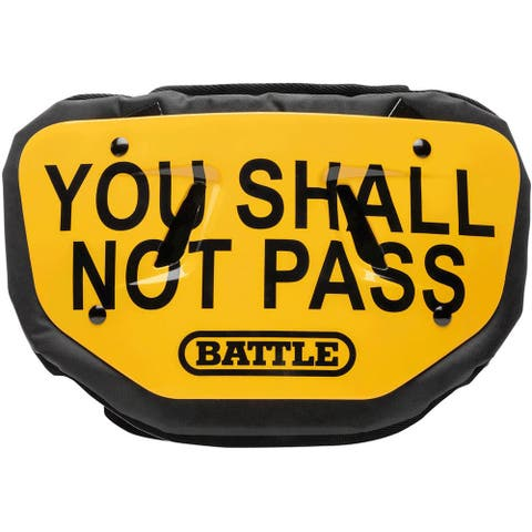 Battle Sports Science You Shall Not Pass Adult Chrome Football Back Plate - One Size