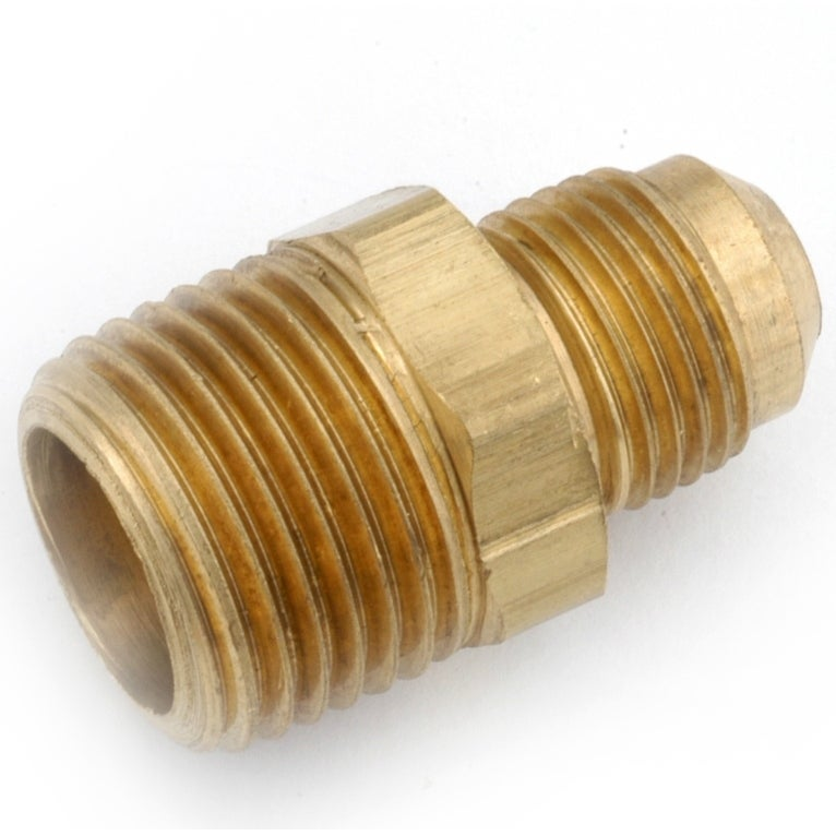 Anderson Metals 714048-0806 Lead Free Brass Connector, 1/2 Flare x 3/8 MPT