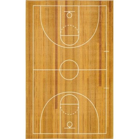 Porch & Den Waker Basketball Court Sports Area Rug