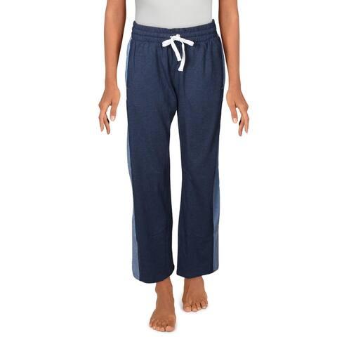Splendid Womens Long Pajama Bottoms Cozy Sleepwear - Dark Denim Indigo - S