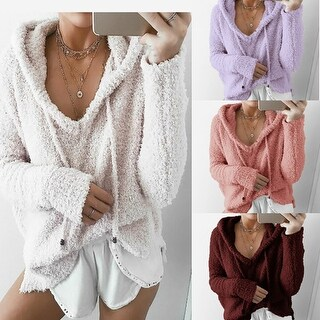 Autumn Winter Women Fashion Hoodie Sweater Loose Long Sleeve Sweater Pullover
