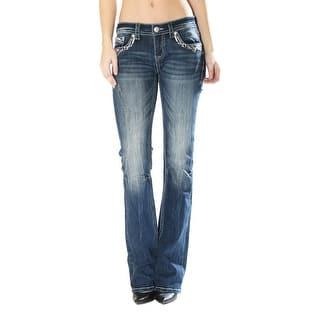Grace in LA Denim Jeans Womens Bootcut Odette Dark Wash JB81162 (Option: 25)|https://ak1.ostkcdn.com/images/products/is/images/direct/707b7317bad5c20c7d7b39041519521b60c384b7/Grace-in-LA-Denim-Jeans-Womens-Bootcut-Zig-Zag-Pocket-Dk-Wash-JB81162.jpg?impolicy=medium