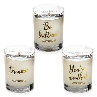 Natural Lemon,Lavender & Eucalyptus, Highly Scented Candles (Set of 3)