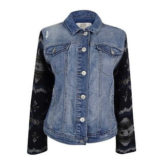 Vintage America Women's Mixed-Media Denim Jacket
