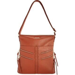 Rampage Womens Hobo Handbag Faux Leather Zipper Pocket - LARGE