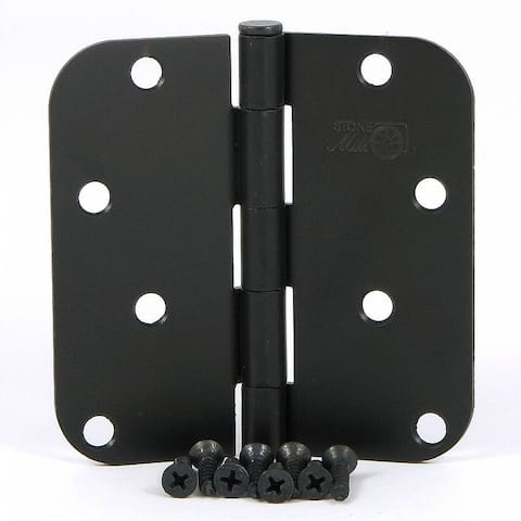 Stone Mill Hardware - Oil Rubbed Bronze 4-inch Door Hinge (Pack of 2)