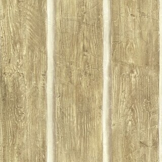Brewster TLL51015 Chinking Maple Wood Panel Wallpaper