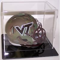 Mini Football Helmet Acrylic Display Case Black Base