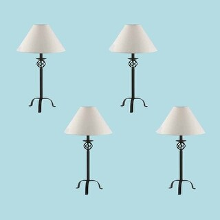 4 Black Wrought Iron Table Lamp 28 H