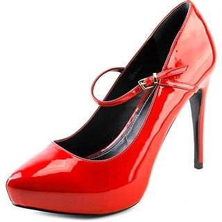 Charles By Charles David 5-F-009 Women Pointed Toe Synthetic Red Mary Janes